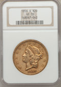 1856-S $20 VF35 NGC. NGC Census: (22/911). PCGS Population (15/459). Mintage: 1,189,750. Numismedia Wsl. Price for probl...