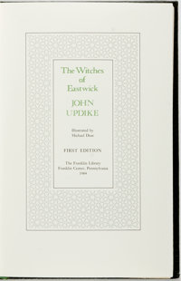 John Updike. SIGNED. The Witches of Eastwick. Franklin Center: Franklin Library, [1984]. First