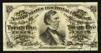 Fr. 1294 25¢ Third Issue Extremely Fine-About New