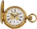 Timepieces:Pocket (pre 1900) , Girard Perregaux Ornate 18k Gold Hunters Case, circa 1890's. ...