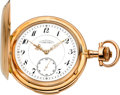 Timepieces:Pocket (post 1900), A. Lange & Söhne Fine Rose Gold Minute Repeater, circa 1914....