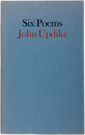 Books:Literature 1900-up, John Updike. SIGNED/LIMITED. Six Poems. Aloe Editions, 1973.First edition, limited to 100 numbered copies signed ...