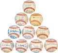 Autographs:Baseballs, 1972 Team Signed Baseballs Lot of 10....