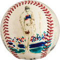 Baseball Collectibles:Balls, 1999 Al Leiter Original Baseball Artwork by LeRoy Neiman....