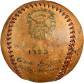 Autographs:Baseballs, 1933 World Series Multi Signed Baseball with Walter Johnson, MelOtt....