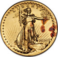 High Relief Double Eagles, 1907 $20 High Relief, Wire Rim -- Ex-Jewelry, Cleaned -- ANACS. Unc. Details, Net AU50....