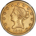 Liberty Eagles, 1863-S $10 -- Improperly Cleaned -- NGC Details. AU....