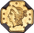 California Fractional Gold, 1855 $1 Liberty Octagonal 1 Dollar, BG-533, Low R.4, MS63 NGC....
