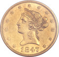Liberty Eagles, 1847 $10 MS61 NGC....
