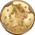 California Fractional Gold, 1859 50C Liberty Round 50 Cents, BG-1002, High R.4, MS67 ProoflikeNGC....