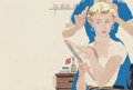 Pin-up and Glamour Art, PAUL CALLAN BURNS (American, 1910-1990). Dolled Up, woman'smagazine story illustration, 1954. Pencil and gouache on boa...