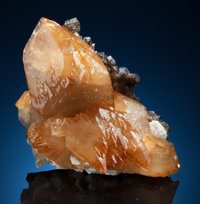CALCITE with SPHALERITE and BARYTE Elmwood Mine, Carthage, Central Tennessee Ba-F-Pb-Zn District, Smith Co., Te