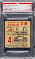 Baseball Collectibles:Tickets, 1939 All-Star Game Ticket Stub PSA VG-EX 4....