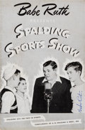 "Autographs:Others, 1944 Babe Ruth Signed ""Spalding Sports Show"" Radio Program...."