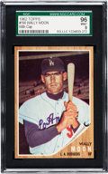 Baseball Cards:Singles (1960-1969), 1962 Topps Wally Moon (With Cap) #190 SGC 96 Mint 9 - Pop One, None Higher! ...