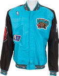 Basketball Collectibles:Uniforms, 1996-98 Anthony Peeler Game Worn Vancouver Grizzlies WarmupUniform....
