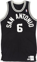 Basketball Collectibles:Uniforms, 1986-87 Walter Berry Game Worn San Antonio Spurs Jersey. ...