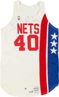 Basketball Collectibles:Uniforms, 1988-89 Ron Cavenall Game Worn New Jersey Nets Jersey....