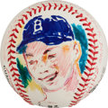 Baseball Collectibles:Balls, 1997 Duke Snider Original Baseball Artwork by LeRoy Neiman....