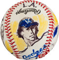 Baseball Collectibles:Balls, 1998 Don Sutton Original Baseball Artwork by LeRoy Neiman....