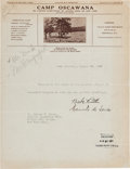 Autographs:Letters, 1926 Babe Ruth Signed Typed Letter, PSA/DNA Mint 9....