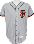 Baseball Collectibles:Uniforms, 1986 Steve Carlton Game Worn San Francisco Giants Jersey....