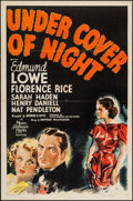 """Movie Posters:Mystery, Under Cover of Night (MGM, 1937). One Sheet (27"""" X 41""""). Mystery....."""
