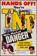 """Movie Posters:Crime, Girls Marked Danger (I.F.E. Releasing Corporation, 1953). One Sheet (27"""" X 41""""). Crime.. ..."""