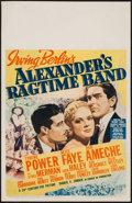 """Movie Posters:Musical, Alexander's Ragtime Band (20th Century Fox, 1938). Window Card (14"""" X 22""""). Musical.. ..."""