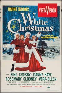 "White Christmas (Paramount, 1954). One Sheet (28"" X 42"") & Trimmed One Sheet (24.75"" X 42""). Mus..."