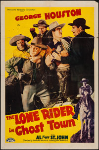 """The Lone Rider in Ghost Town & Other Lot (PRC, 1941). One Sheets (2) (27"""" X 41""""). Western. ... (Total:..."""