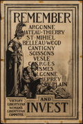 "Movie Posters:War, World War I Propaganda (Sackett & Wilhelms, 1917). Poster (20""X 30"") ""Remember and Invest."" War.. ..."
