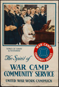 "Movie Posters:War, World War I Propaganda (Heywood Strasser & Voigt, 1917).Posters (2) (20"" X 28"" & 20"" X 38"") ""The Spirit of War CampCommuni... (Total: 2 Items)"