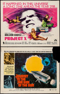 "Movie Posters:Mystery, Project X & Other Lot (Paramount, 1968). Half Sheets (2) (22"" X28""). Mystery.. ... (Total: 2 Items)"