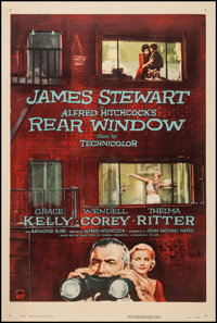 "Rear Window (Paramount, 1954). One Sheet (27"" X 41""). Hitchcock"