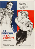 """Movie Posters:Romance, The Prince and the Showgirl (Warner Brothers, R-1970s). Spanish One Sheet (27.5"""" X 39""""). Romance.. ..."""