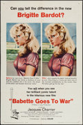 "Movie Posters:Comedy, Babette Goes to War & Others Lot (Columbia, 1960). One Sheets (7) (27"" X 41""), Mini Lobby Card Set of 8 (8"" X 10""), Insert (... (Total: 17 Items)"