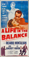 "Movie Posters:Thriller, A Life in the Balance (20th Century Fox, 1955). Three Sheet (41"" X 81""). Thriller.. ..."
