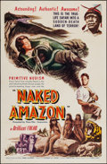 "Movie Posters:Adventure, Naked Amazon (Times Films Corp., 1954). One Sheet (27"" X 41"").Adventure.. ..."
