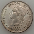 Colombia, Colombia: Bogota 50 Centavos 1882 with Different Head,...