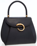 Luxury Accessories:Bags, Cartier Black Leather Classic Panthere Top Handle Bag with GoldHardware. ...