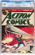Golden Age (1938-1955):Superhero, Action Comics #19 (DC, 1939) CGC GD- 1.8 Off-white to white pages....