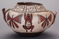 American Indian Art:Pottery, A ZUNI POLYCHROME FROG EFFIGY JAR. c. 1890...