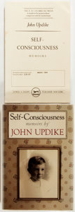 Books:Biography & Memoir, John Updike. Self-Consciousness. Two copies, including anadvance review copy, with publisher's review slip and ... (Total: 2Items)