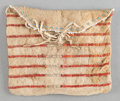 American Indian Art:Beadwork and Quillwork, A SIOUX QUILLED BUFFALO HIDE POUCH. c. 1880...