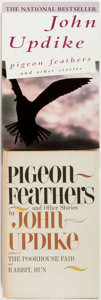 Books:Literature 1900-up, John Updike. SIGNED. Pigeon Feathers. Two copies, includinga first edition signed by the author (Knopf, 1962) a... (Total: 2Items)