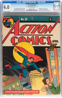 Action Comics #23 (DC, 1940) CGC VG 4.0 Off-white pages