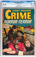 Golden Age (1938-1955):Horror, Fight Against Crime #20 (Story Comics, 1954) CGC VG 4.0 Cream tooff-white pages....