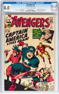 Silver Age (1956-1969):Superhero, The Avengers #4 (Marvel, 1964) CGC VF 8.0 Off-white to whitepages....