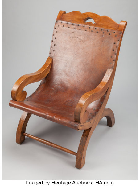 Williamspratling Decorative Arts American A William Spratling Mexican Leather And Oak Chair